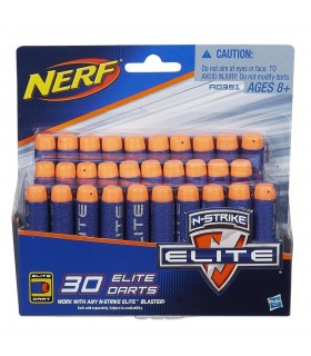 NERF ELITE PACK DE 30 DARDOS