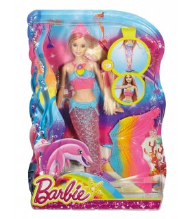 BARBIE SIRENA LUCES DE ARCOIRIS