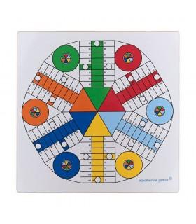 TABLERO PARCHIS 4 Y 6 JUG. DOBLE CARA 40x40 CM