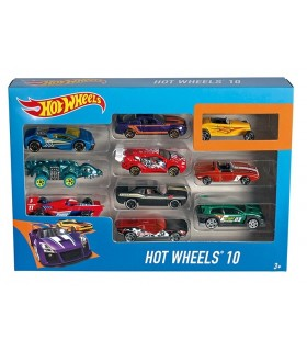 Set de 10 vehiculos Hot Wheels