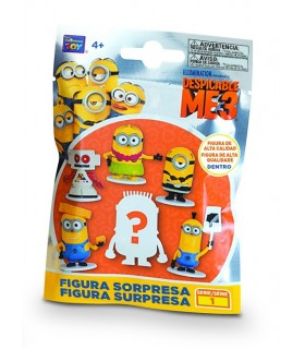 DISPLAY 30 SOBRES MINIONS 3 FIGURAS 4 CM
