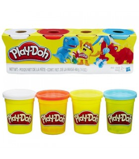 PLAYDOH PACK 4 BOTES COLORES BASICOS