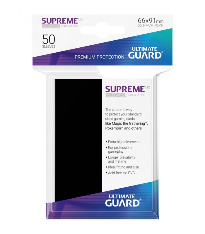 FUNDA METALIZADA NEGRO 50 U. ULTIMATE GUARD