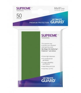 FUNDA METALIZADA VERDE 50 U. ULTIMATE GUARD