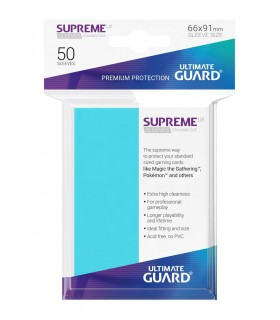 FUNDA METALIZADA AGUAMARINA 50 U. ULTIMATE GUARD