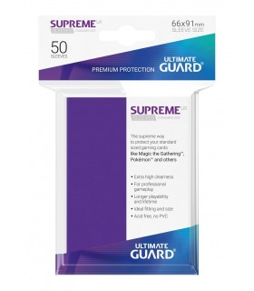 FUNDA METALIZADA VIOLETA 50 U. ULTIMATE GUARD