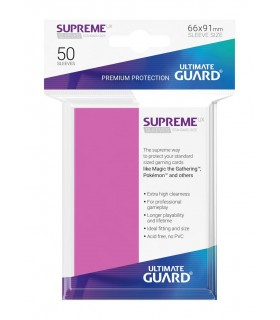 FUNDA METALIZADA FUCSIA 50 U. ULTIMATE GUARD