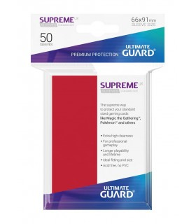 FUNDA METALIZADA ROJO 50 U. ULTIMATE GUARD