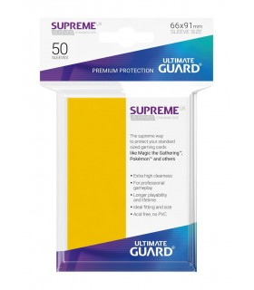 FUNDA METALIZADA AMARILLA 50 U. ULTIMATE GUARD