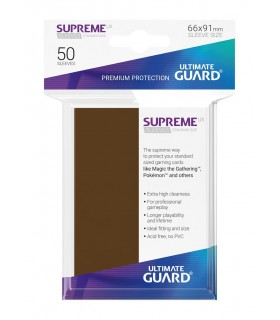 FUNDA METALIZADA MARRÓN 50 U. ULTIMATE GUARD