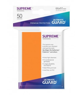 FUNDA METALIZADA NARANJA 50 U. ULTIMATE GUARD