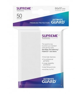 FUNDA METALIZADA BLANCO 50 U. ULTIMATE GUARD