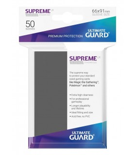 FUNDA METALIZADA GRIS OSCURO 50 U. ULTIMATE GUARD
