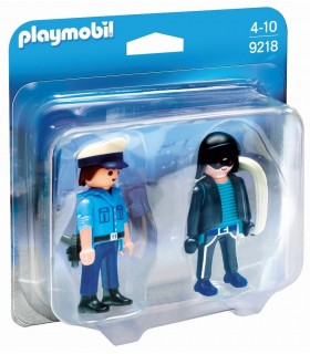 PLAYMOBIL DUO PACK POLICIA Y LADRON
