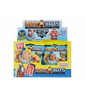 DISPLAY 10 LETRABOTS COMBO BIG ROBOT ZUR