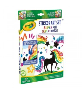RECARGA SUPER CERABOLI SET STICKER ART CRAYOLA