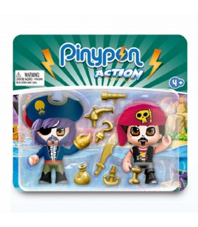 PACK 2 FIGURAS PINYPON ACTION PIRATAS