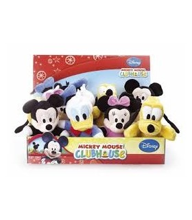 DISPLAY 12 PELUCHES MICKEY, MINNIE, PLUTO DONALD