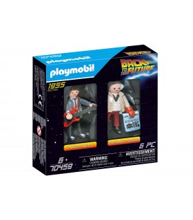 REGRESO AL FUTURO MARTY MCFLY Y DR. EMMETT BROWN PLAYMOBIL