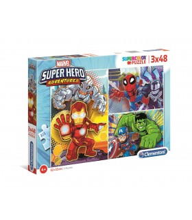PUZZLE 3x48 MARVEL SUPERHERO ADVENTURES