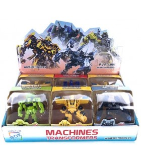 DISPLAY 6 MACHINES TRANSFORMERS